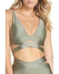 Becca - Ballerina Wrap Bikini Top - Lyst