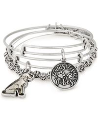 ALEX AND ANI - Pawsitive Vibes Set Of 3 Wire Bangles - Lyst