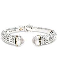Lagos - Caviar Diamond Cuff - Lyst