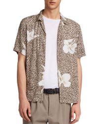 AllSaints - Kuhi Regular Fit Short Sleeve Sport Shirt - Lyst