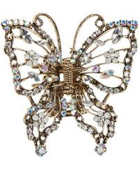 Tasha - Crystal Embellished Butterfly Jaw Clip - Lyst