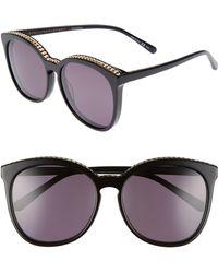 4f17e578d1 Stella McCartney - 59mm Cat Eye Sunglasses - Lyst