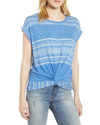 Lucky Brand - Twist Front Print Tee - Lyst