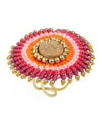 Panacea - Thread Wrapped Drusy Ring - Lyst