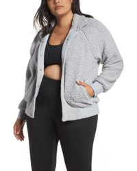 87b94e604b66 Lyst - Zella Wear It Out Bomber Jacket in Black