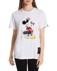Rag & Bone - Mickey Mouse Collage Unisex Cotton Tee - Lyst
