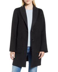 Tahari - Jenn Double Face Wool Blend Reversible Coat - Lyst