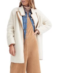 Madewell - Faux Shearling Cocoon Coat - Lyst