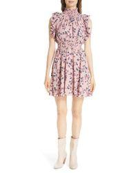 Kate Spade - Prairie Rose Flutter Dress - Lyst