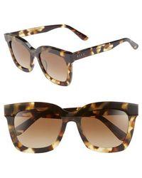 59fb181707a2 DIFF - Carson 53mm Polarized Square Sunglasses - Moss Havana/ Brown - Lyst