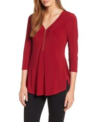 Chaus - Zip Neck Top - Lyst