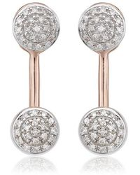 Monica Vinader - Fiji Diamond Button Ear Jackets - Lyst