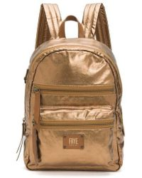 Frye - Ivy Metallic Nylon Backpack - - Lyst