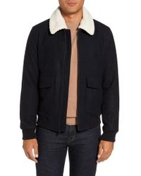Michael Kors - Fleece Collar Wool Blend A-2 Jacket - Lyst