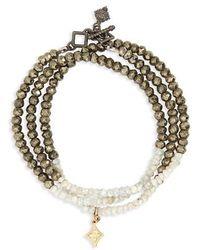 Armenta - Old World Triple Wrap Bead Bracelet - Lyst