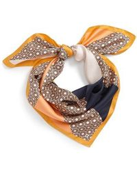 Tory Burch - Octagon Square Silk Scarf - Lyst