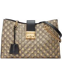 7ae81e5ee Gucci Ophidia GG Supreme Tote Bag in Brown - Save 22% - Lyst