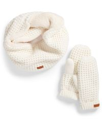 Barbour - Fleece Lined Snood & Mittens Set - Lyst