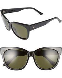 Electric - Danger Cat 58mm Sunglasses - Gloss Black/ Polarized Grey - Lyst