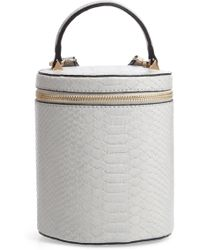 Jules Kae Marion Snake Embossed Bucket Bag - Metallic