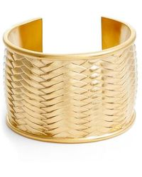 Vince Camuto - Woven Texture Cuff Bracelet - Lyst