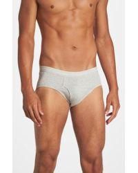 Calvin Klein - 4-pack Low Rise Riefs, Grey - Lyst