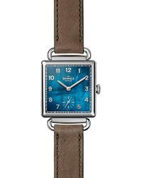 Shinola - Cass Leather Strap Watch - Lyst