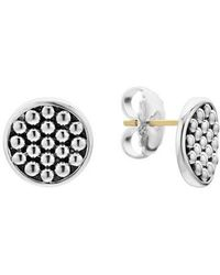 Lagos - Signature Caviar Button Omega Post Earrings - Lyst