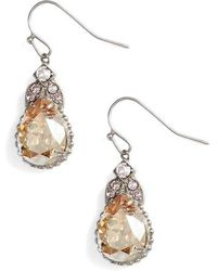 Sorrelli - Decorative Deco Crystal Drop Earrings - Lyst