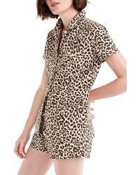 J.Crew - Leopard Print Cotton Pajamas - Lyst