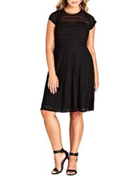 City Chic - Trendy Plus Size Textured Dress - Lyst