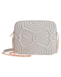 Ted Baker - Quilted Leather Camera Bag - - Lyst