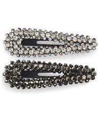 Tasha 2-pack Crystal Hair Clips, Black