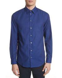 Emporio Armani   Textured Dot Print Sport Shirt   Lyst