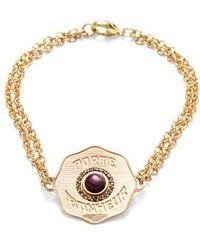 Marlo Laz - Porte Bonheur Coin Bracelet - Lyst