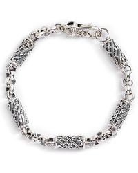Konstantino - Trillion Etched Barrel Link Bracelet - Lyst