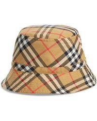 2a976b71d55 Lyst - Burberry Cotton Gabardine Bucket Hat in Natural for Men