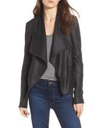 67ad5f88a83 Lamarque - Asymmetrical Zip Front Leather Cascade Jacket - Lyst