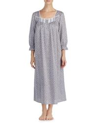 Eileen West - Chambray Cotton Nightgown - Lyst