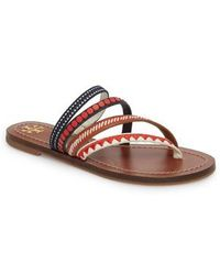 Tory Burch - Patos Embroidered Thong Sandal - Lyst