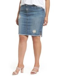 Kut From The Kloth - Connie Step Hem Denim Skirt - Lyst