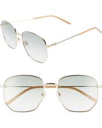 210a16112da Lyst - Gucci 2235 Aviator Sunglasses in Gray for Men