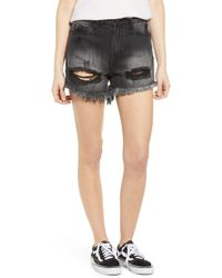 Articles of Society - Meredith Ripped Denim Shorts - Lyst