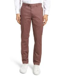 Ted Baker - Proctt Flat Front Stretch Solid Cotton Pants - Lyst