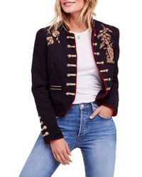 Free People - Lauren Band Jacket - Lyst
