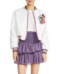 Maje - Bloomy Varsity Jacket - Lyst