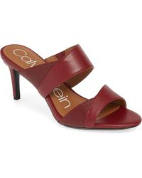 Calvin Klein - Lynnae Textured Slide Sandal - Lyst