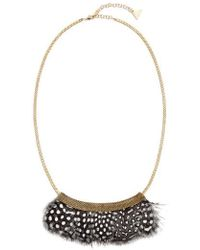 Serefina - Feather Bib Necklace - Lyst
