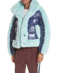 Opening Ceremony - Faux Fur Trim Down Puffer Coat - Lyst