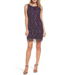 Pisarro Nights - Embellished Mesh Sheath Dress - Lyst